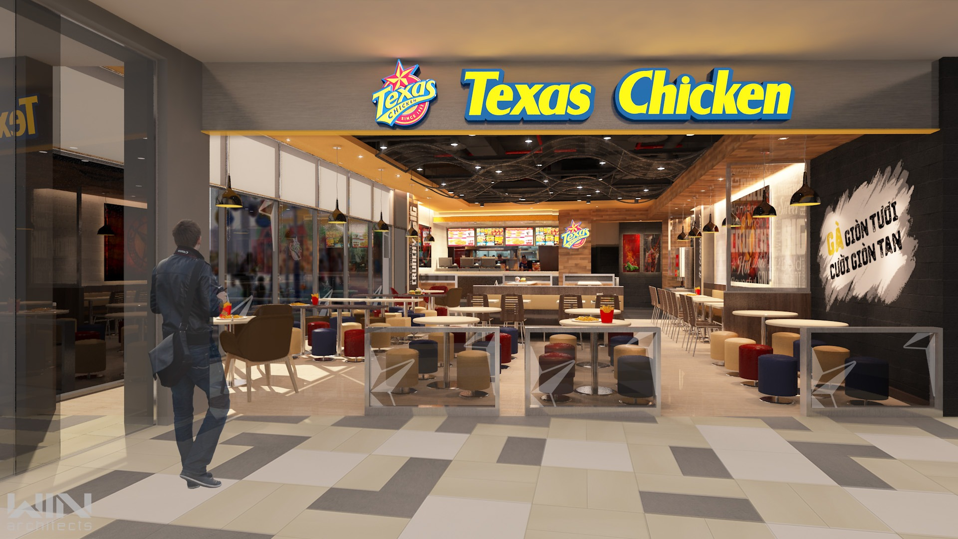 Texas Chicken VIVO CITY Q7 TPHCM | 168m²